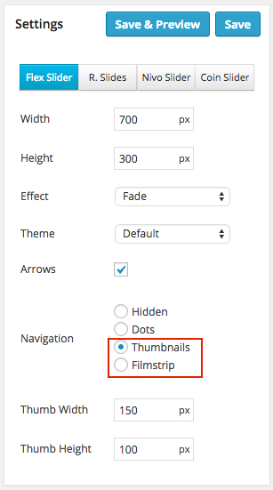 Thumbnail and Filmstrip navigation