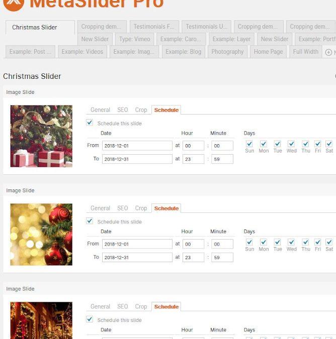 MetaSlider Pro launch schedule slider feature